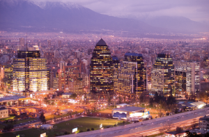 City of Santiago in Chile